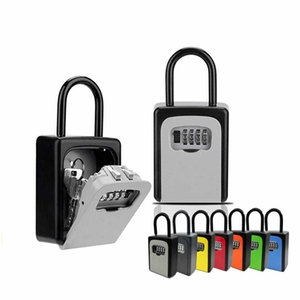 Portable Key Storage Box Wall Mount Combination Lock for Outside Key Storage Box with Resettable Code 4 Digit Combination Lockbox