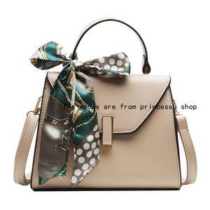 Female for Handbag Women Single-Shoulder Bag New Personality Scarf Square Sling Bag Simple Messenger DktK9 QYNF