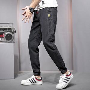 2020 new loose jeans men's small feet Harem Pants sports Leggings trendy men's pants