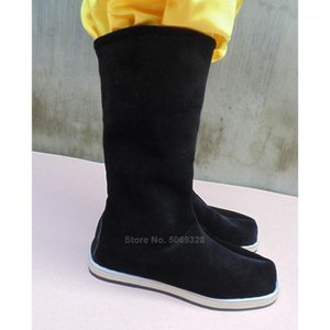 Antik Çin Geleneksel Ayakkabı Pamuk Erkekler Kadınlar Hanfu Dans Çizmeler Pekin Opera Halk Dans Qing Hanedanı Aksesuarları Shoes1