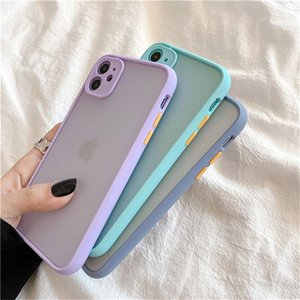 Mint Hybrid Camera Protection Case For iPhone SE 2020 11 11Pro Max XR XS Max X 6 6S 8 7 Plus 11Pro Shockproo Bumper Matte Cover