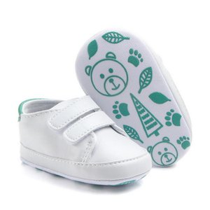 DHL 200pair Cute Solid Infant Anti-slip Baby Shoes Casual walking Shoes super quality First Walkers