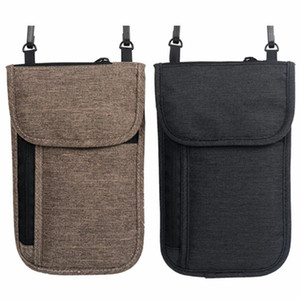 Nosii Neck Hanging Travel Passport Cover Wallet ID Holder Storage Bag Money Clutch Carry Pouch RFID Card Holding