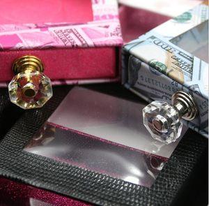 Eyelash Crystal handle packaging Square lash alse box fake 3d mink lashes boxes faux cils strip diamond magnetic case em