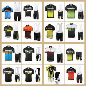 2020 Pro Team Scott Cycling Jersey Set Men Summer Breathable Bike Outfits Short Sleeve Mtb Bicycle Clothing Sports Uniform Y071202