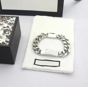 designer bracelet Link womem men Necklaces Bracelets 316L Stainless Steel Choker Jewelry High Polished Casting Chains Double Safety Clasps