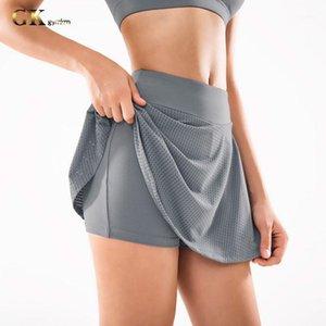 Gymkm женщины бегающие шорты бегущие фитнес леди спортивные тренировки открытый тренажерный зал Короткие спортивные тренировочные изделия одежды движения бриджи юбки1