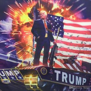 Suspension 90 * 150cm Digital Print Donald Trump sur le drapeau Tank Impression Trump Trump Suspension 3x5ft Grand Drapeau de décor Drapeau Trump Tank Bannières DH1033 T03