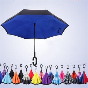 التعامل مع عكس نوع C مظلة الأيدي طويل الحرة Doubledeck مظلة موضة المظلات الأصالة لون السيارة Ultravioletproof 17xy M2