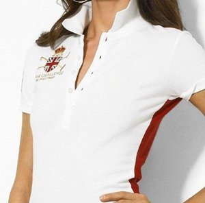 2020 Summer Slim Women's Short Sleeve T-shirt Solid Color High Quality Embroidered Lapel Polo Shirt Ladies T-shirt