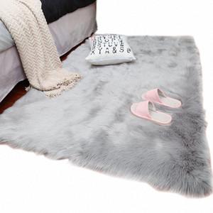FAMIFUN 2018 Neue Schaffell-Plain-Pelz-Haut Fluffy Schlafzimmer Faux Mats abwaschbare Kunst Textil-Area-Platz Teppiche zJ4O #