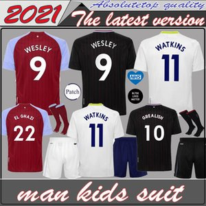 2020 Aston Villa Football WATKINS 20 21 WESLEY Grealish football shirt EL GHAZI Hourihane M.TREZEGUET McGinn hommes enfants kit uniforme