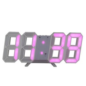 60pcs lot wholesale 3D LED Wall Clock Digital Alarm Clock Date Temperature Alarm Desk Table Clock