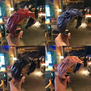 2020 Popular Lujo Borde ancho de lujo Bandas de pelo anudadas Mujer Paño Carta Pelo Hoop Chica Diadema Deportes Fitness Diadema Head Wrap Accesorios