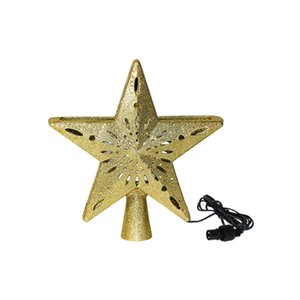 1 pc Christmas Tree Topper Snowflake Glitter Star LED Party Supplies Treetop Decor for Home Hotel