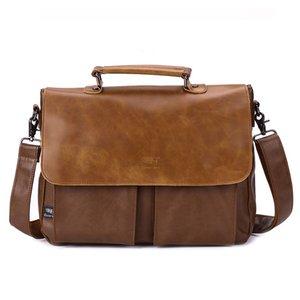 New Brand Men Business Bags Teenager Crossbody Vintage Top Layer Leather Shoulder Bag Men's Messenger Bag  Handbag