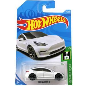 Hot Wheels 1:64 Carro Tesla Modelo 3 S X Coletor Edição Metal Diecast Modelo Carros Crianças Brinquedos Presente LJ200930
