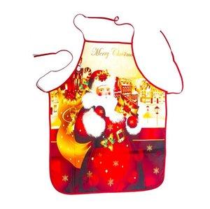 Grembiule di Natale Santa Claus Buon Natale Decor per la festa festa festival Xmas Regali del fumetto Grembiuli a vita del fumetto 6 colori HWB2684