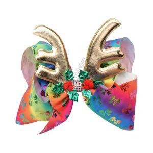 6,7 inch JOJO Siwa archi dei capelli di Natale Elk Horn Antlers con le clip di diamante della forcella dell'arco Ragazze Clippers bambini di capelli accessoria dei capelli Vendita D92202