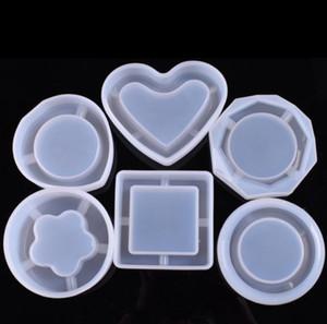 Kristall Epoxidharz Mold Aschenbecher Casting Silikonform Desktop Dekoration Werkzeuge DIY Handwerker Rauchen Zubehör 6 Designs TD655