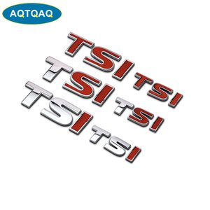 Aqtqaq 1 pcs 3D Metal Tsi Car Side Mudaguard Tronco De Tronco Emblema Emblema Adesivo Decalques, Universal Car Acessórios Decorações Adesivos