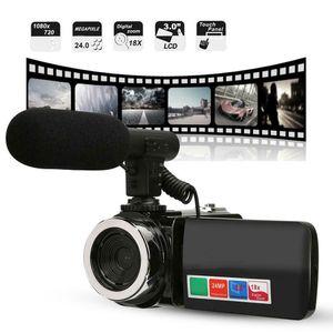 3 inch18X Digitalzoom Vlogging Kamera Digitalkamera Video-Camcorder-Mikrofon-Qualitäts-Camcorder Consumer Zubehör