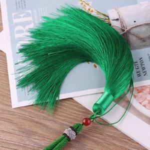 1 unids alta calidad cuerda de cuerda borlas bricolaje llavero gorras correas joyería haciendo encantos colgantes artesanía accesorios artesanal borlas H BBYZPT