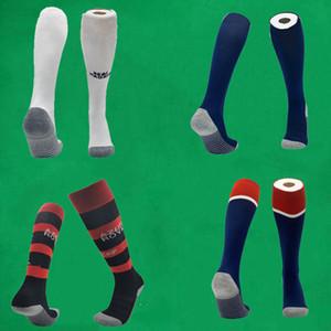 20 21 CR Flamengo fútbol calcetines Real Madrid rodilla alta medias espesan la toalla inferior largas mangueras Boca Juniors deporte calcetines de la media de fútbol