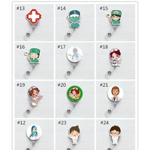 Cute Korea Badge Reel Retractable Pull Buckle Id Card Badge Holder Reels Belt Clip Hospital School Office Suppli sqcyBt ppshop01