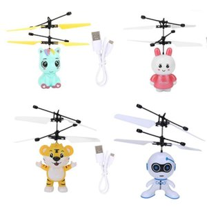 Drones Robot Suspension Induction Aircraft Children'S Toy Lighting Helicopter Flying Rechargeable RC Drone Toys1