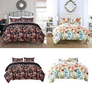 Bedding Sets 3x Floral Style Set Comforter Cover Pillowcase, Lightweight Design For All Seasons1