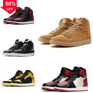 High Chicago Quality Jumpman sWhite Game Red Cny 1 man basketball 1S shoe Wntr the Shoes Basketball Master Men Designer Taxi Flu Gym OG Fren