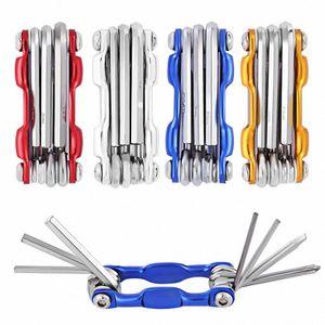 7 in 1 Minimultifunktionsfahrradmontageständer Tool Kit Berg Werkzeug-Fahrrad Folding Schraubendreher Sechskantschlüssel 4 Farbe f63E #