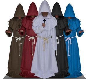 Papel Halloween Batina Clerical Assistente Vestido Vestuário Medieval Monástica Cosplay Jogo Animação -Play Estilo Vintage Outfit