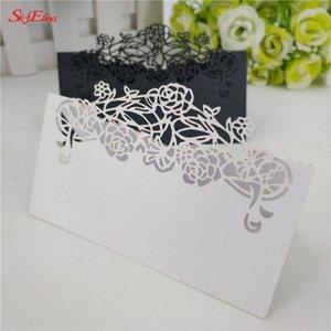düğün kartları hediye kartları 10pcs Misafir tablo Adı Yer kartı Davet Düğün dantel Lazer Kesim 6zSH872 Xaus #