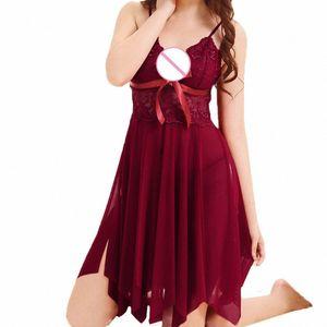 ZHDAOR 2019 nuovo modo caldo delle signore delle donne sveglie Uniformi senza saldatura arco tentazione sexy underwer Camicia da notte libera la nave N5 K2S6 #
