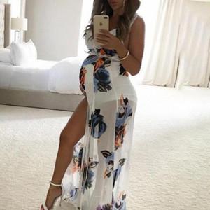 Mulheres 2020 Verão Maternidade Grávida Maternidade Sem Mangas Colete Cintas Vestido Suspender Floral Impressão Vestido Gravidez Sundress Vestido WJAG #