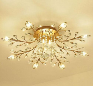 New item fancy ceiling light LED Crystal ceiling lamp modern lamps for living room lights,AC110-240V DIY Crystal lighting