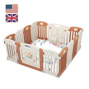 الأسهم في الولايات المتحدة المملكة المتحدة Sukko Baby 14 لوحة Playpen مركز النشاط السلامة تلعب ساحة طوي المحمولة HDPE داخلي في الهواء الطلق سياج السياج