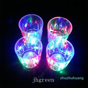 Mini LED Flashing Plastic Beverage Wine Cup Bar Parties Club Decorative Mug Transparent Beer Mug Cup