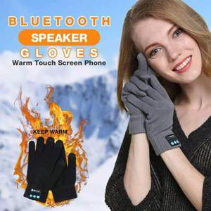 Hot Sale-Warm Touch Screen Phone Bluetooth Speaker Gloves Wireless Bluetooth Gloves Smart for Outdoor Sports JL
