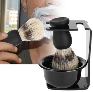Men's Shaving Set Include 100% Pure Badger Shaving Brush + Shaving Soap Bowl + Brush Holder Beard Cleaning Shave Tool DHL
