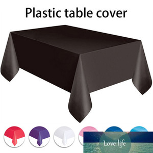 Solid Cloth Disposable Party Anti-oil Tablecloths Table Color Tableware Decor 137x274cm Wedding New Year Christmas Birthday For Wttwc