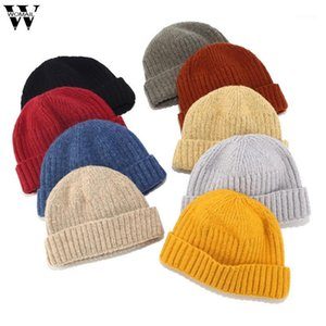 Womail Hat Winter Unisex Fashion Solid color Keep Warm retro master cuff casquette Casual outdoor Knitted Wool beret cap1
