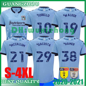 2020 2021 Coventry City SOCCER Jerseys OSTIGARD JOBELLO WALKER McCallum DA COSTA HAMER 20 21 Home Blue FOOTBALL ShirtS THAILAND SIZE S-4XL