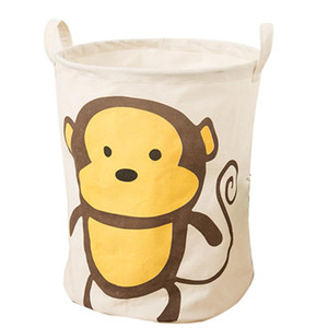 Loozykit Foldable Cute Cartoon Toys Collection Children Laundry Bags Basket Children's Laundry Room Storage Box Folding Basket