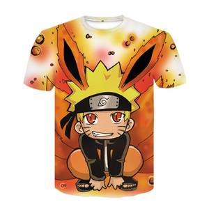 Casual hip hop female   male T-shirt cartoon Naruto short sleeve funny 3D impression T-shirt is monotonous T-shirt male