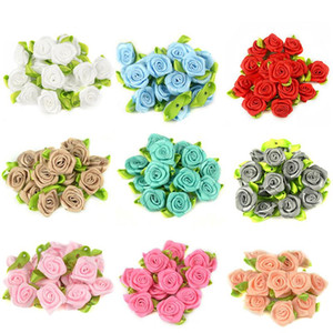 50 stücke 2 cm künstliche seide mini rose blumen köpfe machen satin ribbon diy handwerk scrapbooking applique für hochzeitsdekoration