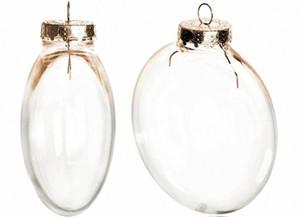 Di trasporto fai da te verniciabile / infrangibile chiaro Christmas Ball, Cap Gold Disco volante ornamento, 100 / confezione vC4F #