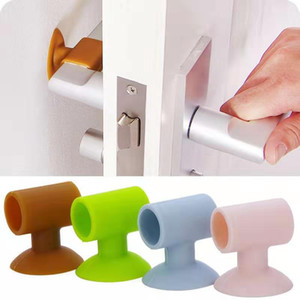Door Stopper Wall Protector Anti-Collision Silicone Door Pads Silencer Crash Pad Rubber Stopper Kitchen Accessories Delivery in 3-5 Days